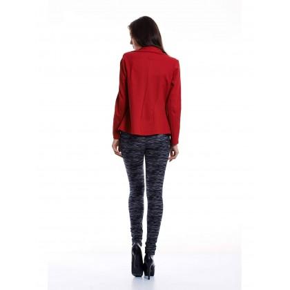 red waistcoat stylish outerwear