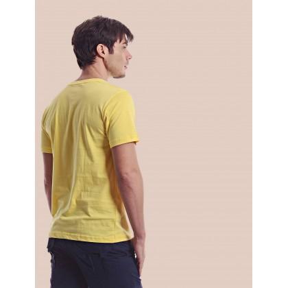 yellow short sleeve train tee