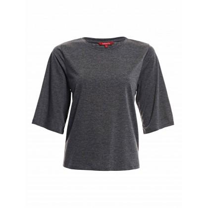 gray 3/4 sleeve tee