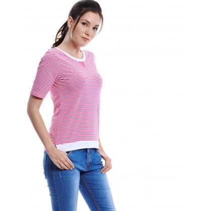 pink short sleeve tee