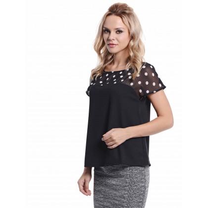black short sleeve tops