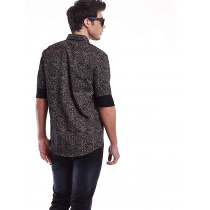 black long sleeve jungle shirt