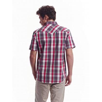 dark pink short sleeve free flow shirt
