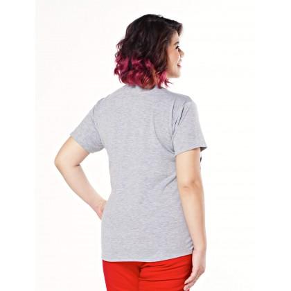 gray short sleeve printed tee