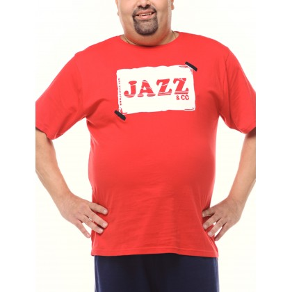 red short sleeve logo tee